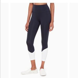 Kate Spade NWT Colorblock Leggings yoga pants navy